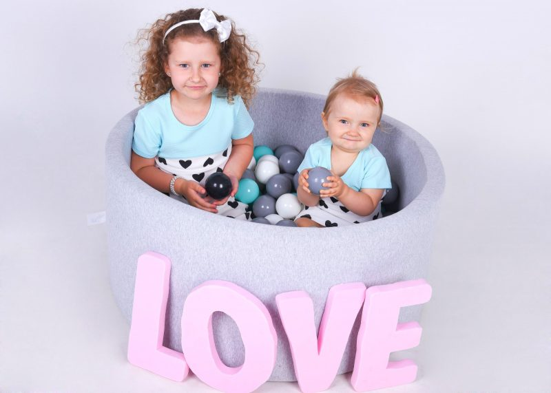 BabyBall - ball pit around 90x40 cm made of foam without / with balls ∅ 7 cm, for babies children girls boys