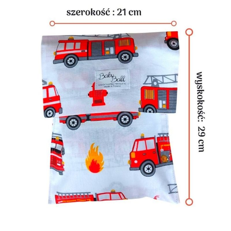Organizer, pouch for nappies, tissues - fire trucks