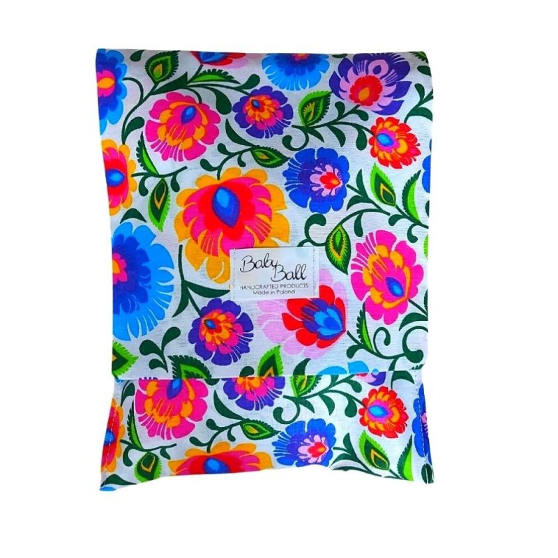 Wipes diaper pouch organizer - folk flowers isolated on white