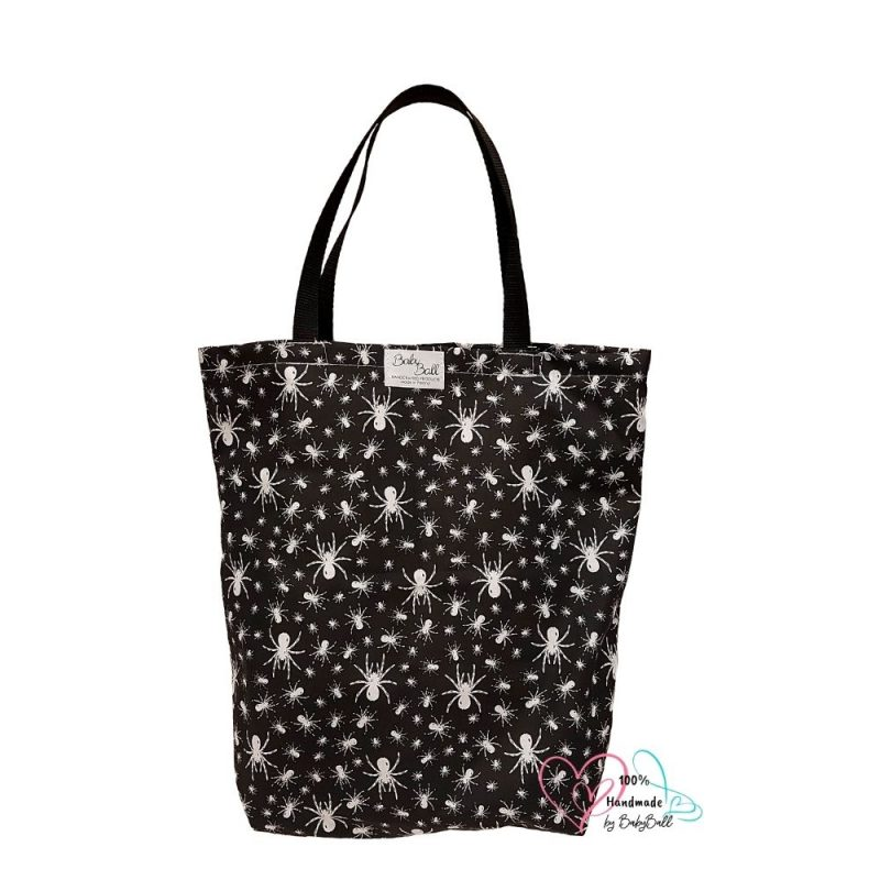 Cotton shopping bag - spiders